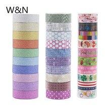 DIY Scrapbooking Sticker Paper Washi-Tape-Set Adhesive Glitter Rainbow 10pcs/Set Kawaii