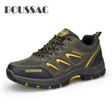 Mens casual outdoor hiking shoes four seasons travel boots non-slip cushioning wear