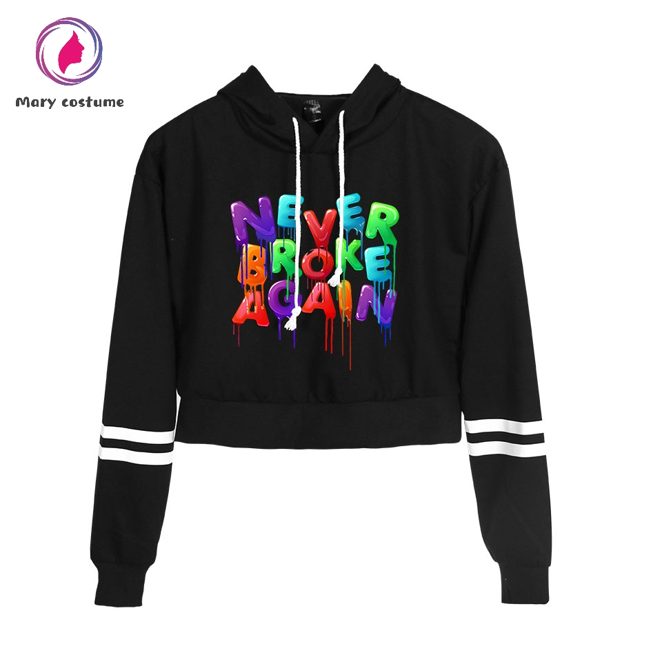 2019 New NBA YoungBoy Printing Hoodie Women Harajuku High Waist Hoodie Sweatshirt Summer Casual Hoodies For Girls