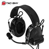 outdoor sports TAC-SKY COMTAC II silicone earmuffs version outdoor hunting sports military noise reduction pickup tactical headset BK (3)