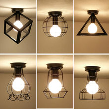 American Country Industrial Overhead Lights Nordic Corridor Balcony Creative Foyer Home Iron Lamps