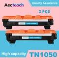 Aecteach из 2 предметов совместимый для брата TN1050 тонер-картридж HL-1110 1110E 1110R 1112 1112E 1202R DCP-1510 1510R принтер черный