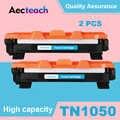 Aecteach 2 uds Compatible para hermano TN1050 cartucho de tóner HL-1110 1110E 1110R 1112 1112E 1202R DCP-1510 1510R impresora negro