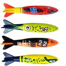 4Pcs% 2FSet Дайвинг Торпеда Подводный Плавательный Бассейн Игра Игрушка Открытый Спорт Тренировка Инструмент для Ребенка Детей Плавание Игрушка