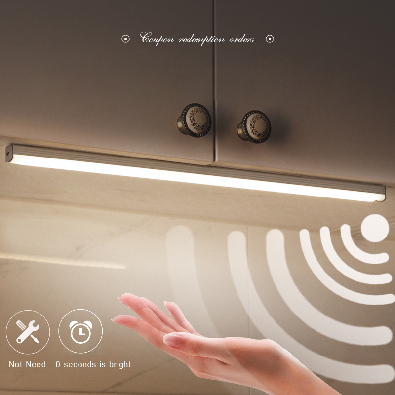 LED Night Lamp Hand Sweep Sensor Switch Dimming USB Charging Under Cabinet Lights Living Room Bedroom Wardrobe Kitchen Lighting