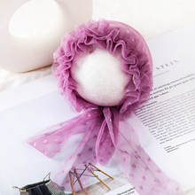 0-3M Newborn Girl Hats Beautiful Princess Lace Infant Baby Photography Hair Accessories Headwear