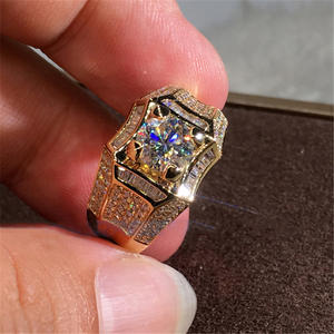 14K Gold 3 Carats Diamond Ring for Men Rock 14k Gold Jewelry Anillo Esmaltado Silver 925 Jewelry Bague Diamant Bizuteria Rings