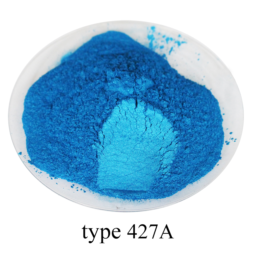 Type 427A 50g Sky Blue Pearl Powder Mineral Mica Powder Pigment For Dye Colorant Soap Automotive Arts Crafts DIY Acrylic Paint