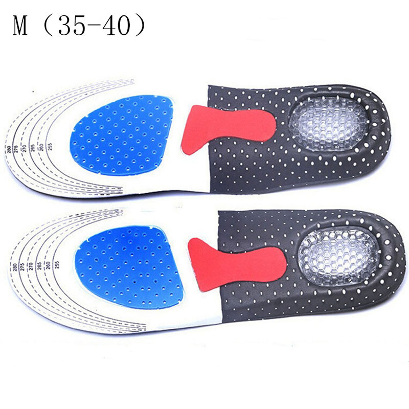1Pair Unisex Solid Silicone Gel Insoles Foot Care for Plantar Fasciitis Heel Spur Sport Shoe Pad Insoles Arch Orthopedic Insole 5