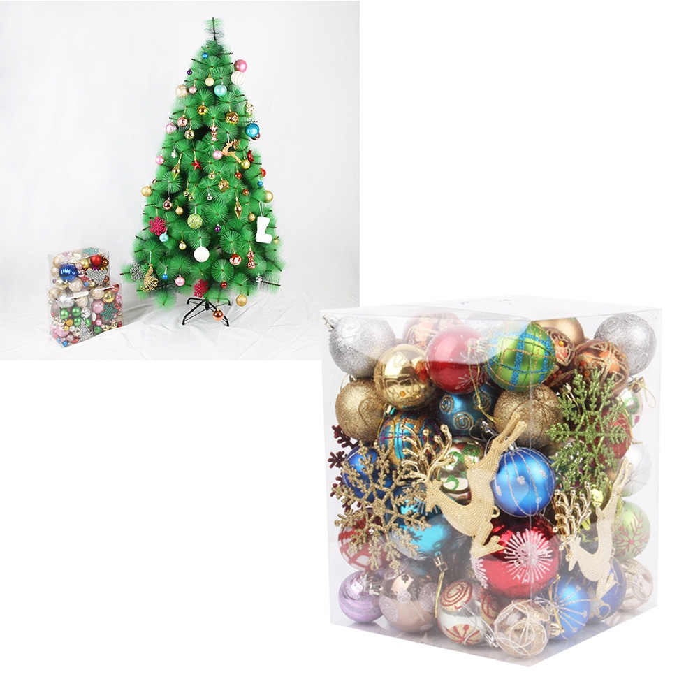 1 Bucket Balls Sequins Colorful Hanging Pendant Christmas Tree Decor Ornament Christmas Ball for Home Shop Office (Random Color)