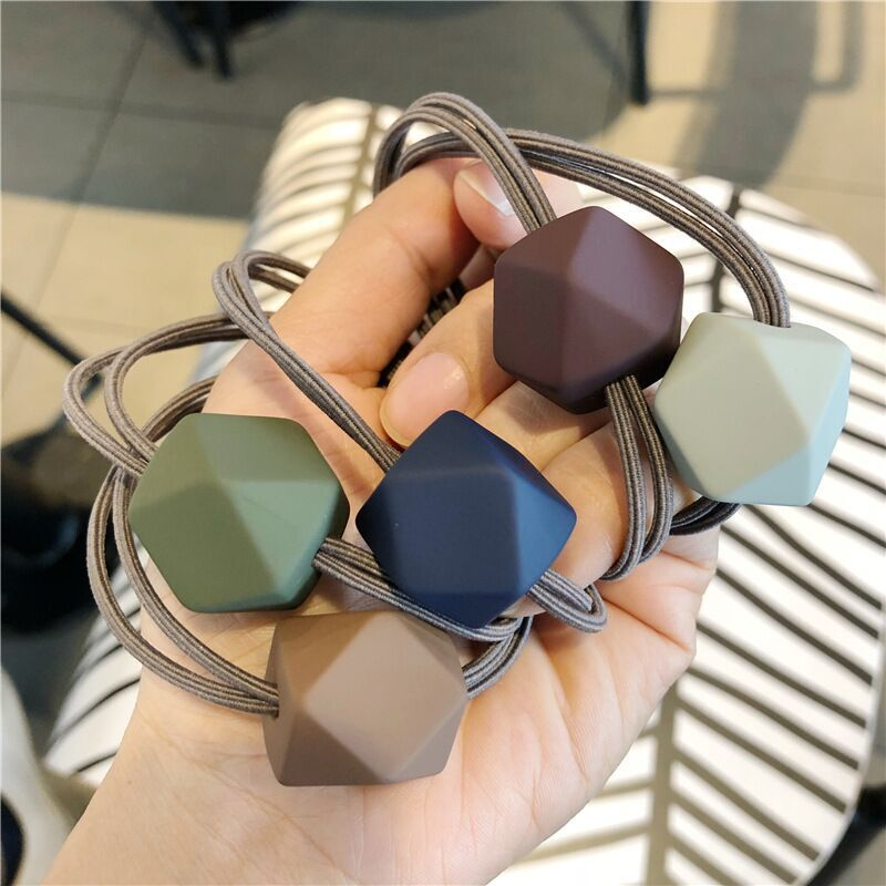 Fashion Square Elastic Hair Band Korea Hair Accessories For Girls Women Handmade Hair Tie Head Band Hair Scrunchies Ornaments