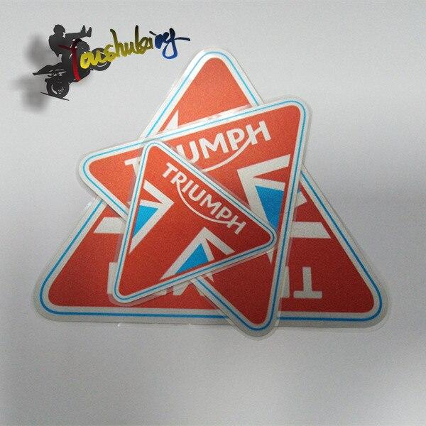 Hot Sale Motorcycle Helmet Fairing Reflective Black Sticker  Fit For TRIUMPH LOGO ROCKET III  STREET TWIN