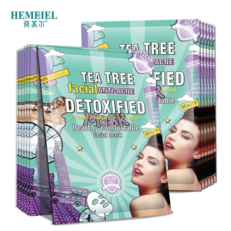 Tea Tree Face Mask Anti-Acne Sheet Mask Moisturizing Face Mask Shrink Pores Acne Remover Skin Care Acne Treatment Korean Mask