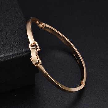 Fashion Gold Stainless Steel White Rhinestone Crystal Bracelet Women Wedding Party Cuff Bangle Bracelet Jewelry 2