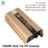 1 Year Warranty 1000W Solar Inverter MPPT On grid Tie 12/18/24/36V To 110/220V Power Inverter for Solar Panle Wind Generator