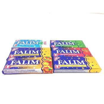 Falim bez cukru guma do żucia bez cukru 6 smakuje 100 sztuka pyszny smak tanie i dobre opinie Plain Sodium Bicarbonate Forest Fruits Mint Strawberry Mixed Fruit Melon 6 x 100