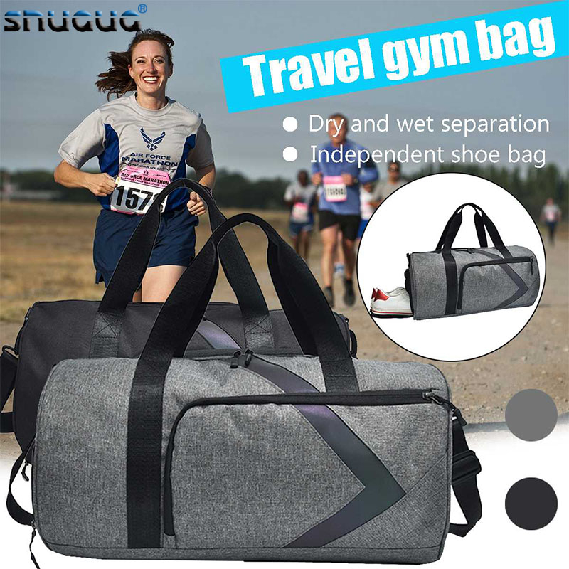 Dry And Wet Fitness Bag Fashion Gym Tas Sac A Dos Sport Outdoor Women Sports Bags For Men Gym Bag Shoe Compartment Training Bag