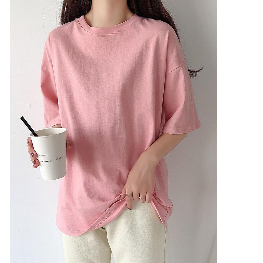 H23dedf49bdec487296041bc034520882r - Summer O-Neck Short Sleeves Minimalist Loose Basic T-Shirt