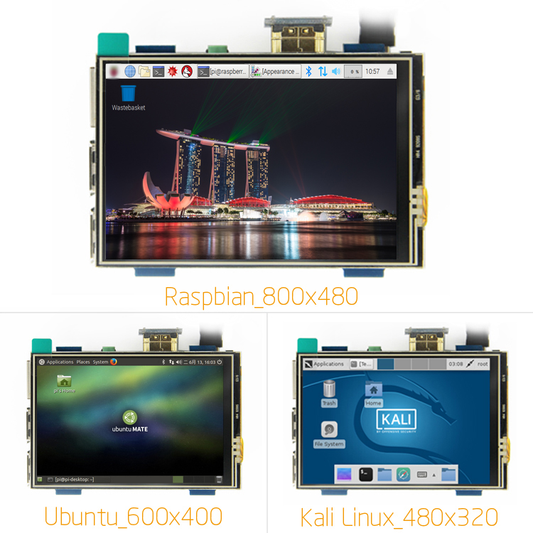 3.5 cal LCD HDMI dotykowy ekran USB prawdziwe HD 1920x1080 wyświetlacz LCD Py dla Raspberri 3 Model B/pomarańczowy Pi (zagraj w gry wideo) MPI3508