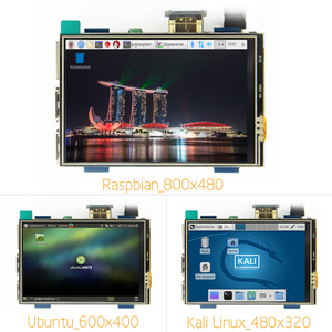 3.5 inch LCD HDMI USB Touch Screen Real HD 1920x1080 LCD Display Py for Raspberri 3 Model B / Orange Pi (Play Game Video)MPI3508(China)
