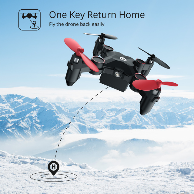 Holy Stone HS190 Foldable Mini Drone RC Helicopter Portable Pocket Quadcopter With 3D Flips Altitude Hold Headless Mode RC Drone