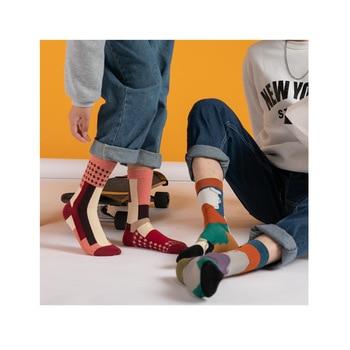 Women Socks 2020 Autumn New Fashion Breathable Comfortable Happy Printed Creative Cute Trendy Casual - discount item  15% OFF Women's Socks & Hosiery