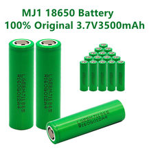 1-10 pces 100% original mj1 3.7 v 3500 mah 18650 bateria recarregável de lítio para baterias de lanterna elétrica para lg mj1 3500 mah bateria