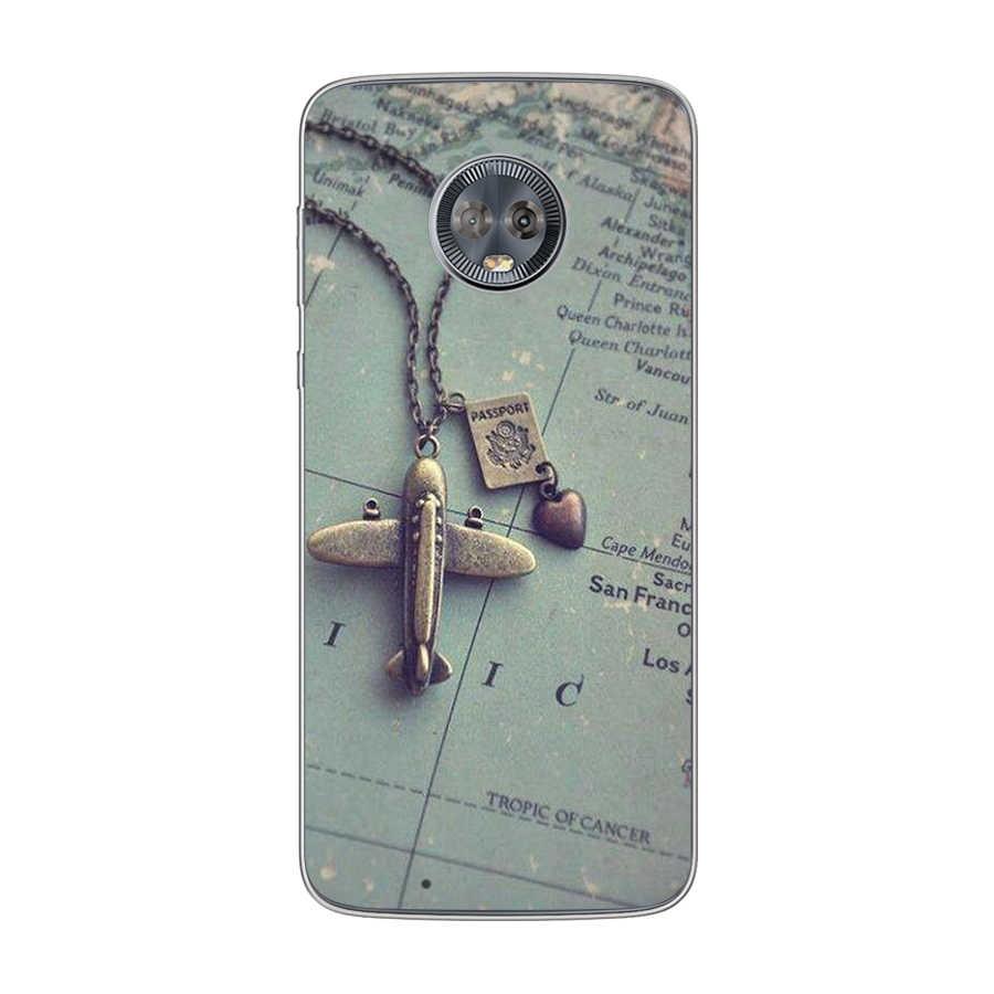 Ciciber旅行地図モトローラモトc Z2 Z3 1 P30 G4 G5 G5S G6 E3 E4 E5 再生プラスパワーm X4 カバーソフトクリアtpu電話ケース