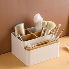 Multi-function Desktop Storage Box Detachable Remote Control Cosmetics Stationery Holder Organization Organizer for Home Office