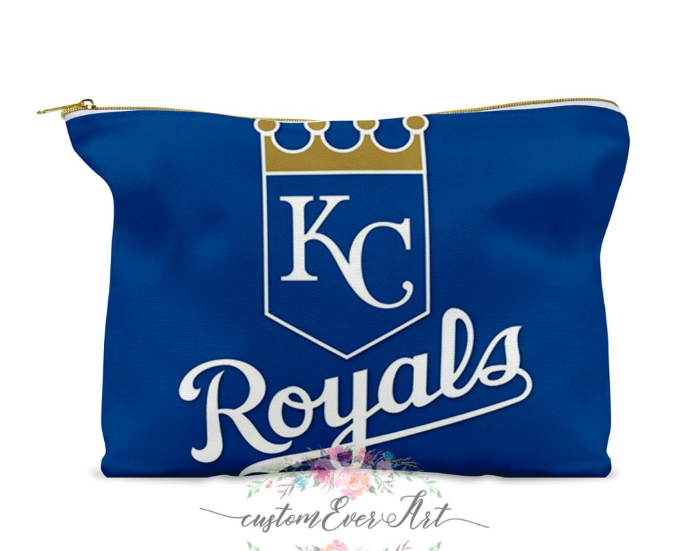 Kansas City Royals Cosmetic Bag Cosmetic Case Cosmetic Pouch  Makeup Bag Cute Travel Bag For Women Gift