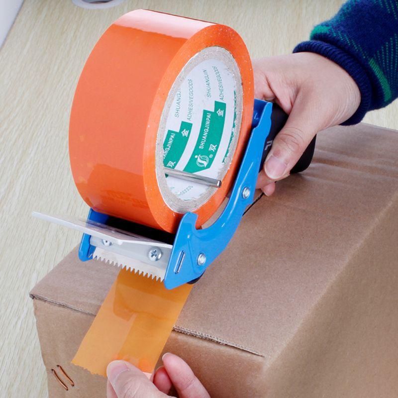 Heavy Duty Portable Sealing Tape Gun Dispenser Packaging Machine Cutter Handheld Packer Holder Random Color W91A