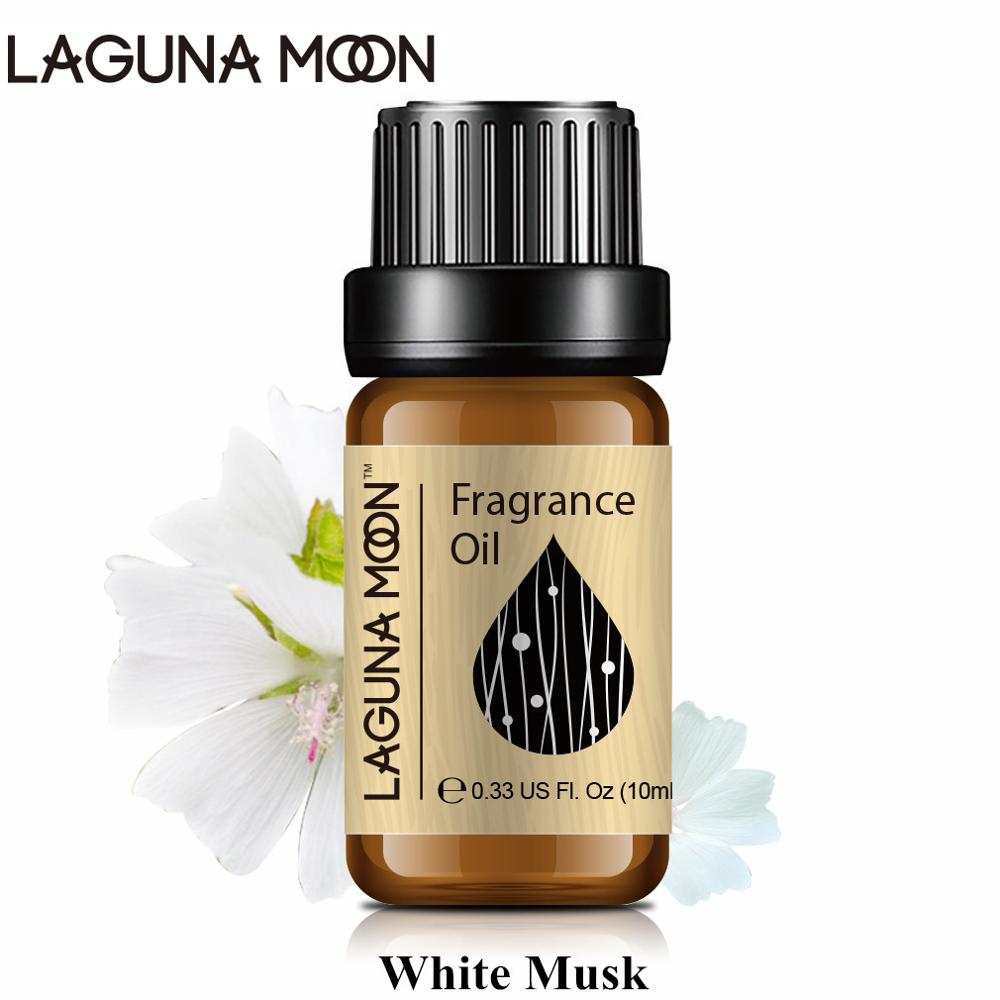 Lagunamoon White Musk 10ml Fragrance Oil For Candle Soap Diffuser Home Perfume Fresh Linen Strawberry Sea Breeze Lime Oil
