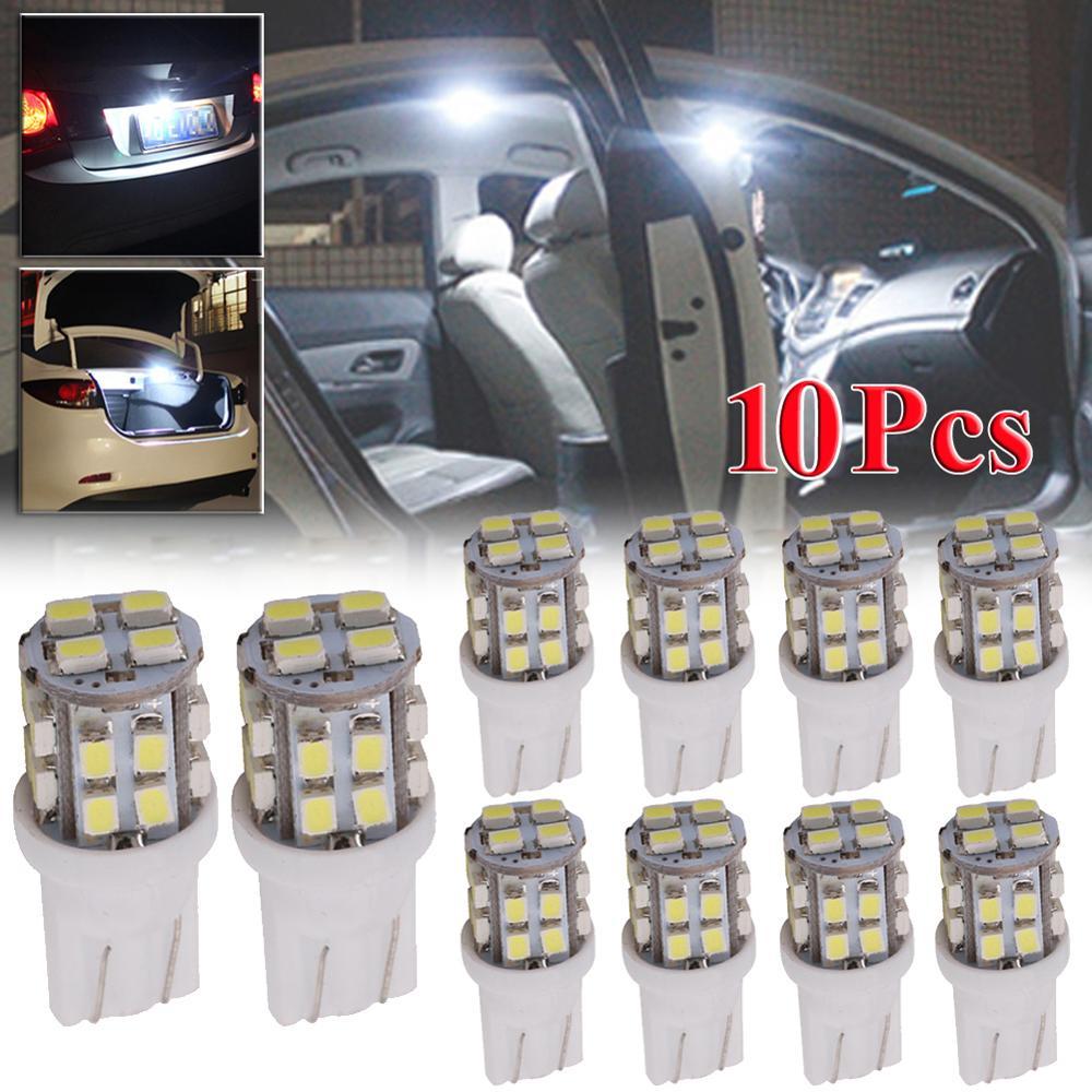 10PCS T10 20-SMD Led-lampe Super Helle Auto Zeigen Freiheit Licht Weiß Signal Lampe