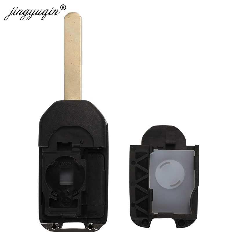 Jingyuqin 2/3 boutons à distance clé coquille costume pour Honda Civic Accord ville CR-V Jazz XR-V Vezel HR-V FRV Original clé remplacement