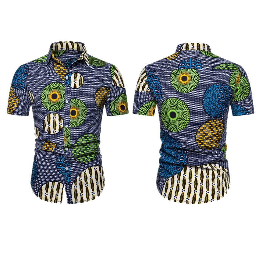 African Clothes 2020 News Dashiki Print Short Sleeve Men T-shirts Fashion Clothing Male Streetwear Hip Hop Party Bazin Africaine