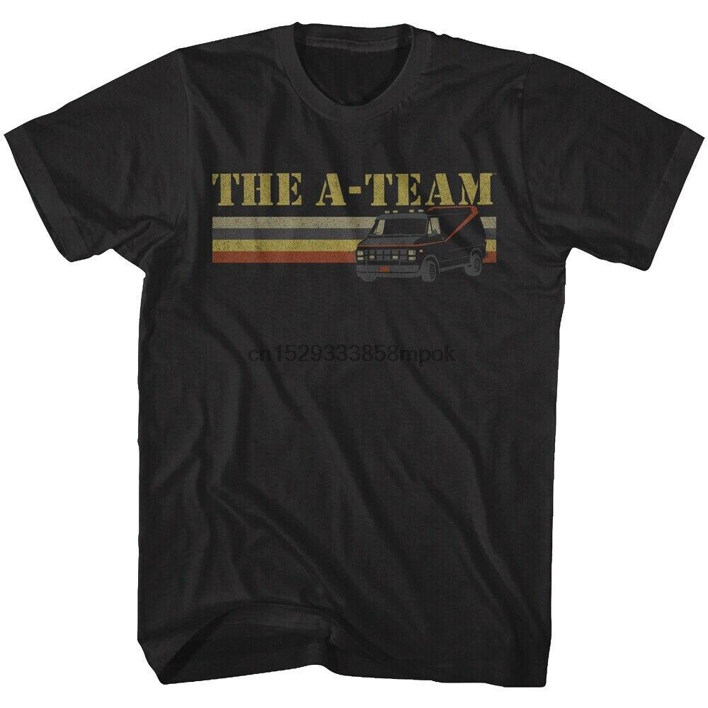 A-Team Van Мужская Ретро-футболка в полоску TV Ганнибал Мурдок Faceman BA Baracas 80s(1)