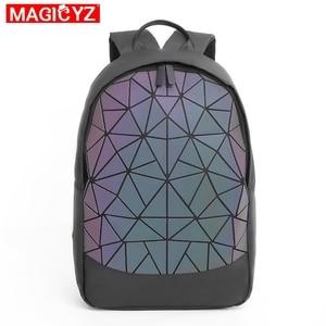 Image 2 - 2020 New Large Capacity Rucksack Women Travel Bag Luminous Laser Daypack PVC Leather Backpacks Female Glowing Backpack