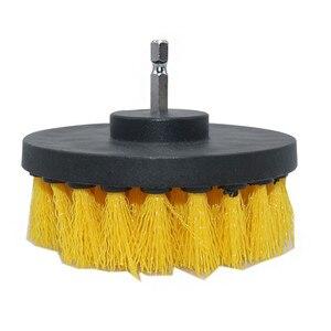 Image 3 - 3 peça conjunto de detergente banheira escova carro pp cerda broca acessório ferramenta limpeza banheira carro esteira ferramenta limpeza elétrica