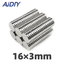 AI DIY 10Pcs/lot 16 x 3mm N35 Round Neodymium Magnet Sheet Super Strong Powerful Rare Earth Magnets For Crafts Imanes Disc16*3mm