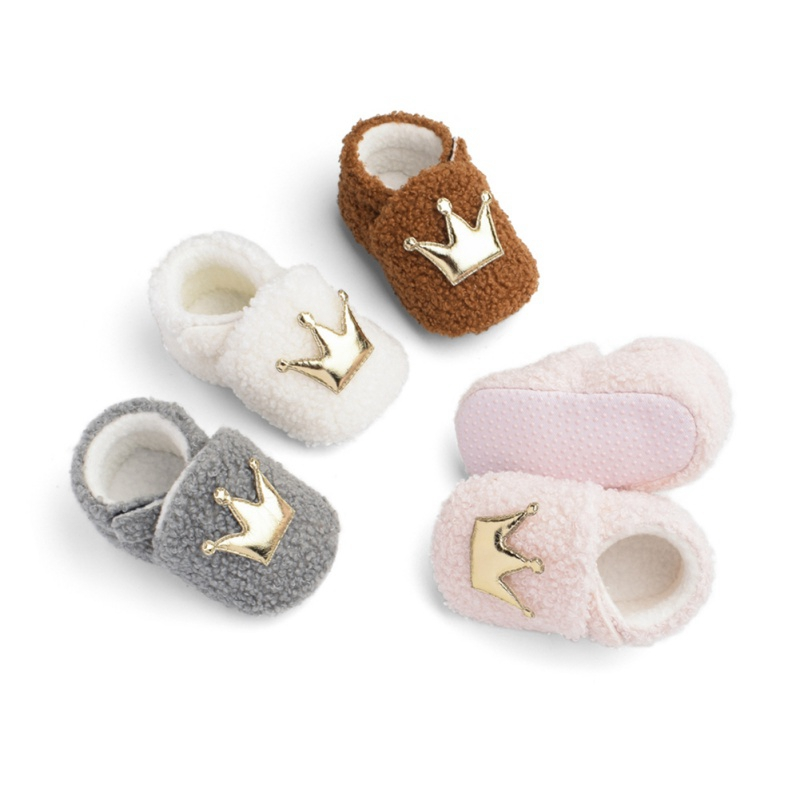 Lovely Design Boy Girls Toddler First Walkers Baby Shoes Flats Soft Slippers Shoes Winter Baby Warm Shoes