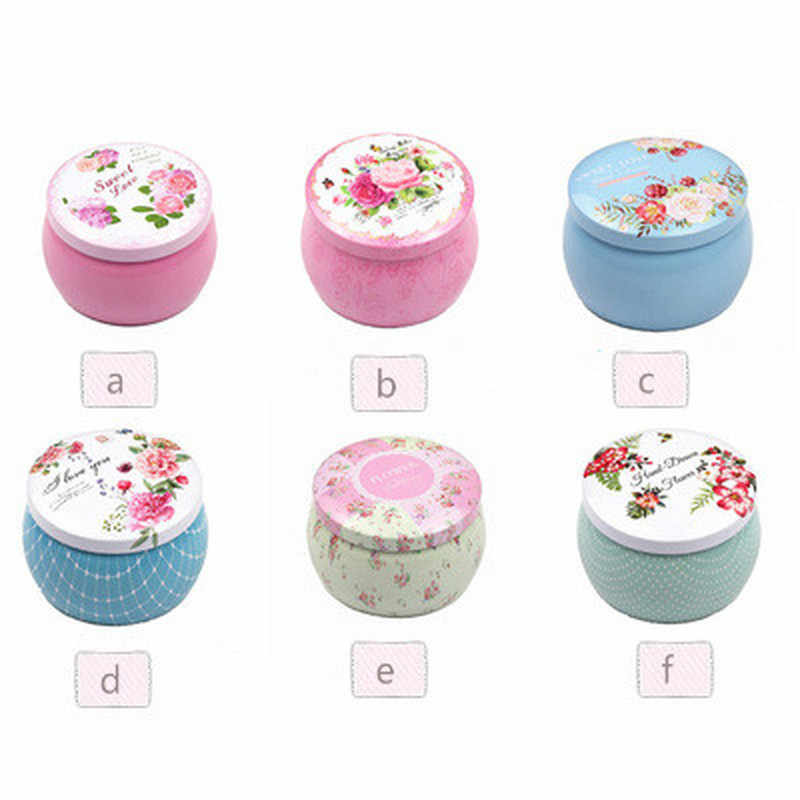 New Ethnic Style Flower Tea Gift Box Round Shape Tinplate Storage Box for Kids Stationery Candy Women Jewelry Storage Organizer
