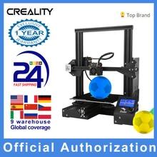 Creality 3D חדש אנדר 3 / Ender 3 פרו DIY 3D מדפסת דרוקר impresora 3D עצמי להרכיב 220*220*250mm MeanWell כוח במלאי