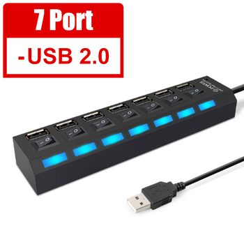 USB 3.0 Hub USB Hub 3.0 Multi USB Splitter 3 Hab Use Power Adapter 4/7 Port Multiple Expander 2.0 USB3 Hub with Switch for PC 8