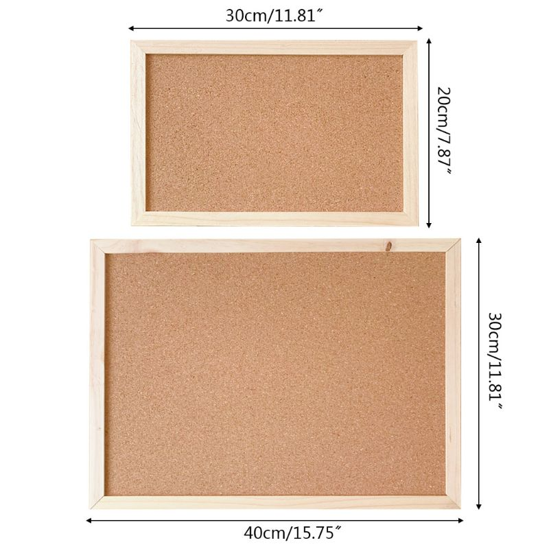 2021 New Cork Wood Wall Hanging Message Bulletin Board Frame Notice Note Memo Board Shop