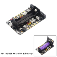 Micro:bit extenstion board para 18650 bateria servo robô módulo accesorries