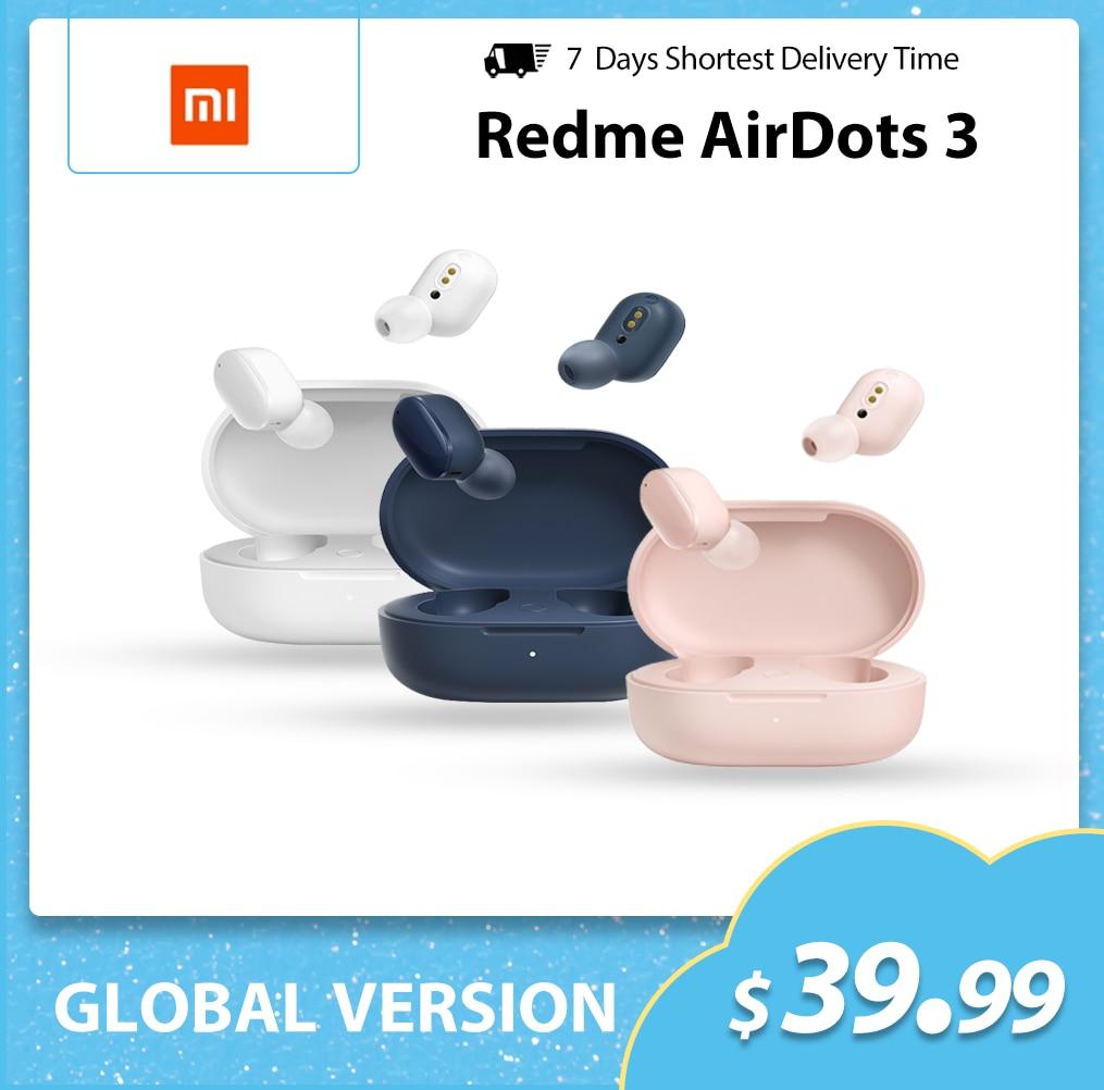 Xiaomi Redmi AirDots 3 TWS Wireless Bluetooth 5.2 Earphone Hybrid Vocalism Mi True Wireless Headset CD-level Sound Quality