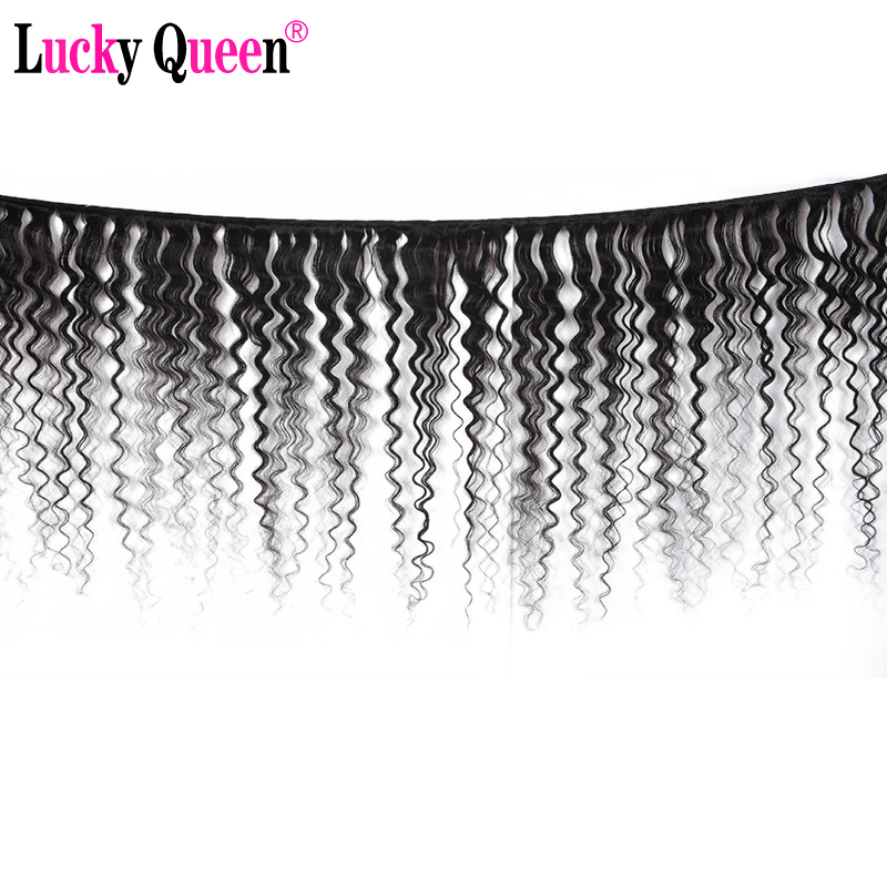 "Image 2 - Indian Deep Wave 100% Human Hair Bundles 8"" 28"" Natural Color 1PC Remy Hair Free Shipping Lucky Queen Hair Products-in Hair Weaves from Hair Extensions & Wigs"