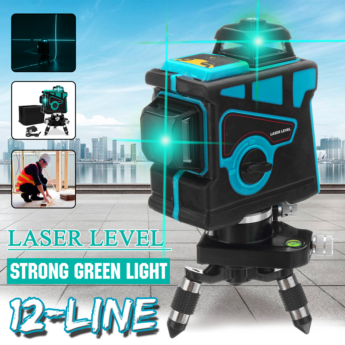 Rotary Laser Lazer niveau Cross Line rotatif Self Leveling professionnel Vertica