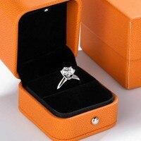 Luxus Solitaire 1ct Lab Diamant Ring 100% Echt 925 sterling silber, Verlobung, Hochzeit band Ringe für Frauen Braut Partei Schmuck