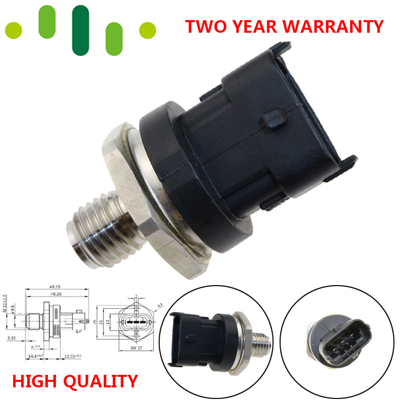 DIESEL Common Rail Fuel High Pressure Sensor For IVECO MAN LDV CUMMINS VOLVO DEUTZ KHD DAF CASE ALPINA VM 0281002964 0281002767 image